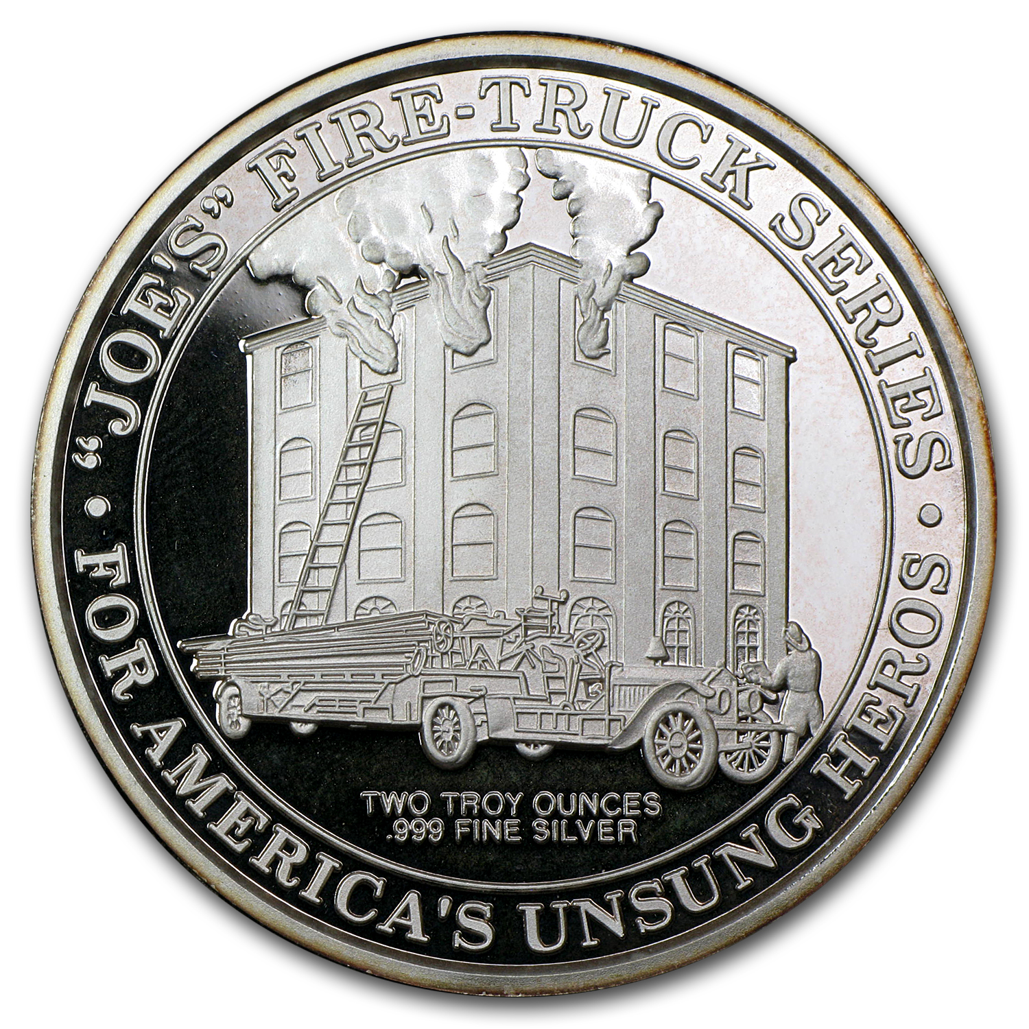 2 oz Silver Round - Joe's Fire-Truck Series